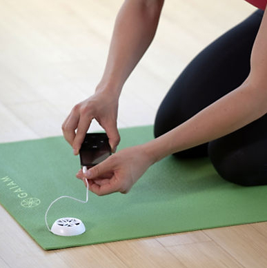 Audio yoga mat gaiam