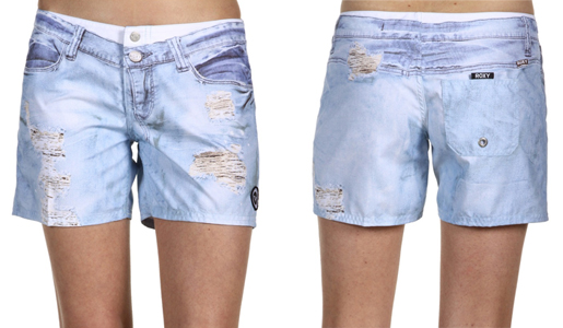 roxy fakie board shorts denim