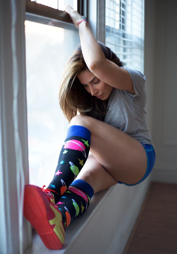Sexy Girl Wearing Nude Sheer Nylon Footjob Sissy Femdom Fuzzy Socks