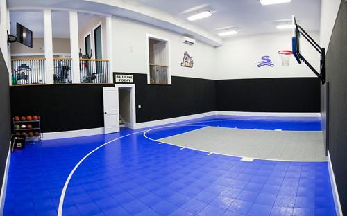 Fancy home gyms get ideas to build your own mizzfit for Building a basketball gym