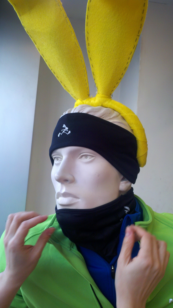 jackrabbit mannequin bunny ears