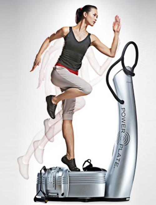 Power Plate machine workout