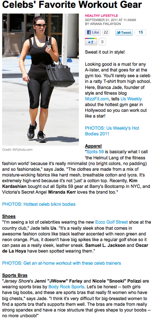 us weekly mizzfit celebrity fitness clothes