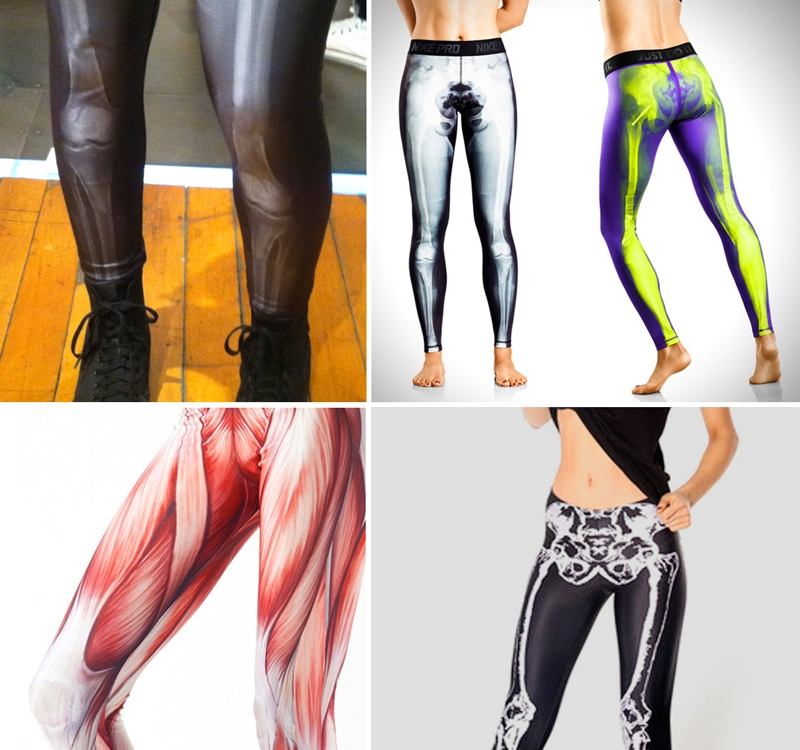 fitness leggings that show off bones & muscles | mizzfit,
