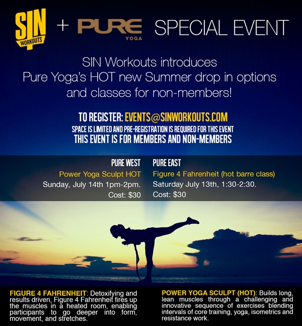sin workouts pure yoga nyccontact events @ sinworkouts com