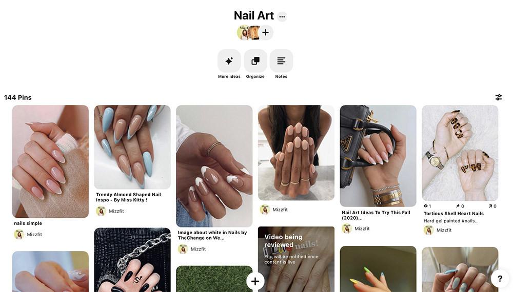 Nail Art Pinterest Board
