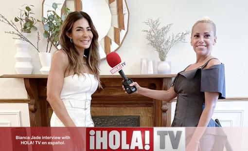 Bianca Jade Hola! TV celebrity interview 2021.