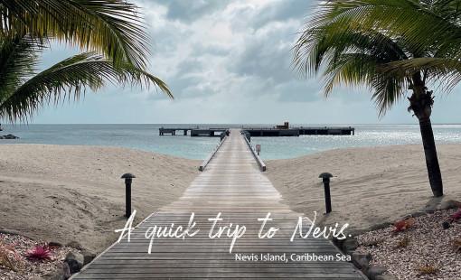 A Beach foot path at Four Seasons Resort on Nevis Island.